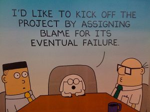 Dilbert Cartoon on Blame - free from Flickr