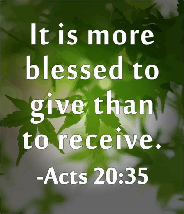 it is more blessed to give than to receive essay That the world owes the world more than the world can pay, and ought to go  into  the life of celebrities and heroes who are always considered as blessed by  this  complete essay: gifts  he is a good man, who can receive a gift well.