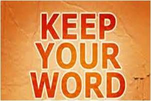 Choose to Keep Your Word | Barbara's Banter